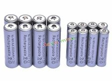 8x AA 3000mAh + 8x AAA 1800mAh 1.2V NI-MH Rechargeable Battery 2A 3A Grey Cell