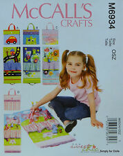 McCall's 6934 Sewing PATTERN for Childrens TRAVEL PLAY MATS Car Monster Sea Doll