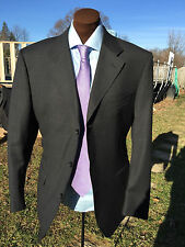 CANALI GRAY 3 BUTTON SUIT FLAT FRONT 44 / 54 REGULAR 44R