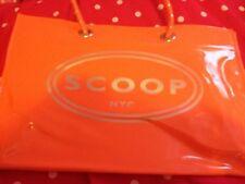 Scoop NYC Vinyl Shopping Tote New Orange
