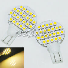 2pcs Warm White T10 194 921 W5W 24 1210 SMD LED Light RV Landscaping Lamp Bulb