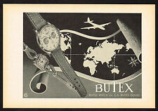 1940's Vintage 1949 Buttes Watch Co. Butex Watch - Paper Print AD