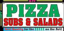 PIZZA SUBS & SALADS BANNER SIGN Slice Pie New York Style NEW SIZE Restaurant
