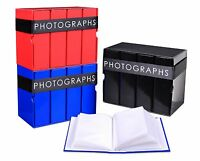 "Box Set of 4 x 80 Slip In Photograph Albums Total 320 6""x4"" (10x15cm) Photos"