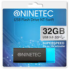 NINETEC Swift 32 GB Highspeed 3.0 USB Speicher Stick Flash Drive Schwarz Blau