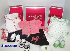 AMERICAN GIRL DOLL MARYELLEN'S 3 OUTFITS POODLE SKIRT SET- PAJAMAS - PLAY OUTFIT
