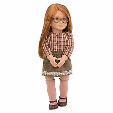 "Our Generation 18"" April Doll Red Hair Blue Eyes Fits American Girl Ships fast!"