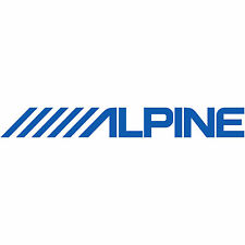 "2x Alpine Logo 5"" Decal Sticker car truck audio navigation stereo amplifier sub"