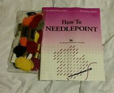 How To Needlepoint TNNA - With 8 Anchor Tapestry Wool and 1 Needle