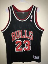 Michael Jordan Chicago Bulls NBA Champion Jersey 44 Large #23 Vintage Black Red