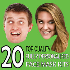 20 Personalised Party Face Masks Lowest Price DIY SET Face Masks