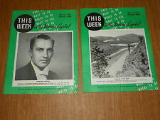 "2 diff. 1954 ""This Week in the Nation's Capital"" 28-page welcome guides"