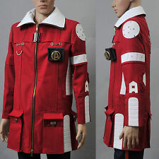 Star Trek II The Wrath of Khan Admiral Kirk Field Coat costume pants Cosplay