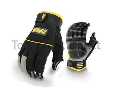 DeWalt synthetic leather work gloves safety black 3 Finger size large dpg24l