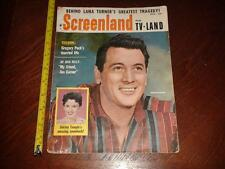 BA927 Vintage 1958 Issue of Screenland Magazine Rock Hudson Shirley Temple Cover