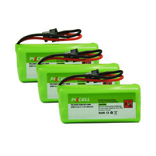 3X Cordless Home Phone Battery NIMH AAA*2 800mAh 2.4V for Uniden BT-1008 BT-1021