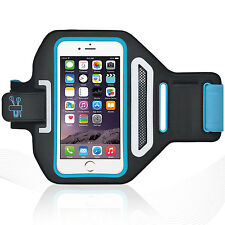 "iPhone 6/6S 4.7"" Blue Lycra Armband Running Reflective CreditCard Holder"