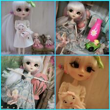 Gorgeous CUSTOM Blanche Pullip Doll With Sweet Milk White Wig - FREE Shipping