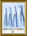 4 Fine ROOT TIP Extraction Forceps Dental Instruments German Stainless  :)