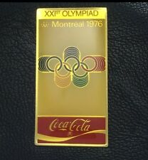 Coca Cola Olympic Poster Pin Badge~1976~Montreal~Coke~XXIst Olympiad~NEW~Origina
