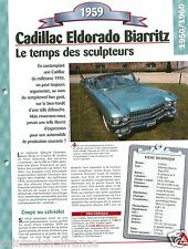 Cadillac Eldorado Biarritz Type 6437 V8 1959 USA Car Auto Retro FICHE FRANCE