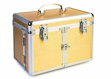Cosmetic/Jewelry Train Case - Snake Skin - GOLD