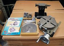 "SOBA 8"" 200 MM ROTARY TABLE SET WITH TAILSTOCK & PLATES FOR MILLING"