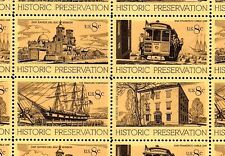 1971 - HISTORIC PRESERVATION - #1440-43 Full Mint Sheet of 32 Stamps