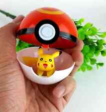 7cm Red Pokemon ABS Anime Action Cosplay Pop-up Poke Ball Fun Toys Gift Kids