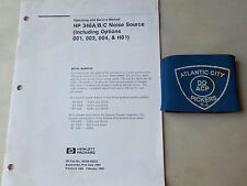 HEWLETT PACKARD HP 346 A/B/C NOISE SOURCE OPERATING AND SERVICE MANUAL