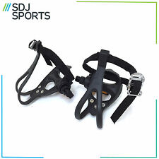 ROAD RACING BIKE PEDALS TOE CLIPS AND STRAPS MADE BY VP