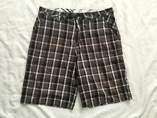 Quicksilver Edition Men Plaid Casual Shorts Size 36 Black/Gray Color SS6