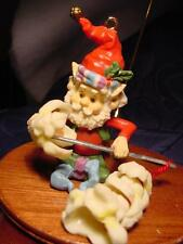 NEW ENESCO ~ POPPER  ~ Wee Tree Trimmers Popcorn Elf CHRISTMAS ORNAMENT NOS 6pic