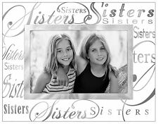 Malden Clear Expressions Glass Picture Frame, Sisters, 4 by 6-Inch , New, Free S