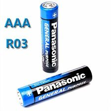 20 x Panasonic GENERAL Purpose AAA Batterie Mignon 1,5V R03 R3  MHD 08/2019