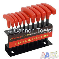 10pc T-HANDLE METRIC ALLEN HEX WRENCH KEY SET STAND ALAN ALLAN
