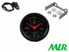 52MM CAR CLOCK GAUGE BLACK FACE CLASSIC KIT CAR MLR.AUN