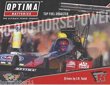 "2014 J.R TODD ""OPTIMA BATTERIES"" TOP FUEL NHRA HANDOUT / POSTCARD"