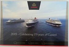 '175 Yrs of CUNARD' Victoria QUEEN MARY 2 Elizabeth LINER Cruise Ship POSTCARD
