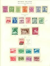 Ryukyu Collection on Scott Pages 1948  to 1972 All Mint Highly Complete Cat $945