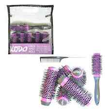Kodo Lock & Roll Hair Brush Set 35mm 6 Brushes, 1 Locking Handle 1 Pin Tail Comb