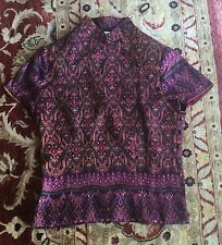 Beautiful Handmade Handwoven Thai Silk Chinese-Style Cheongsam Blouse, XS