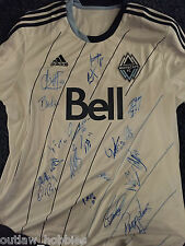 2014 Vancouver Whitecaps 20 x Team Signed Autographed MLS Soccer Jersey COA