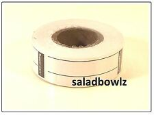 TUPPERWARE New FREEZER LABEL Refill Roll 180 Labels in White Organize Containers