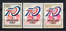 Yugoslavia 1974 SG#1608-10 Communist Congress MNH Set #A32934