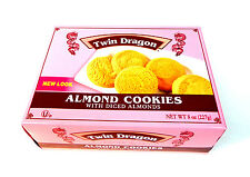 Twin Dragon Almond Cookies with Diced Almonds Chinese Food Cookies 8 oz USA Made