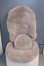 Mercedes Tailormade(126 Chassis)Factory Sheepskin Seat Covers-S class-Light Gray