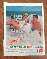 1961 Coke Coca-Cola Ad   Rousing as a Romp in the Surf