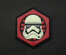 3D PVC First Order GITD Stormtrooper Helmet Patch Star Wars Episode 7 Finn