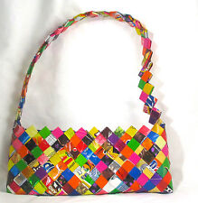 Candy Wrapper Purse Handmade Handbag Evening Granola Bars Bag Snack Folk Art
